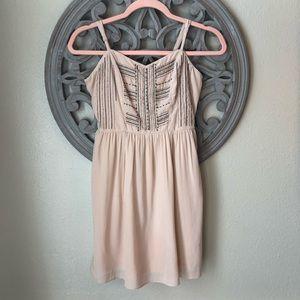 🍬 American Eagle pink beaded mini dress size 0